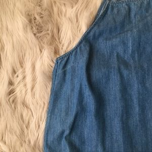 Urban Outfitters Dresses - Urban Outfitters BDG High-Neck Chambray Dress